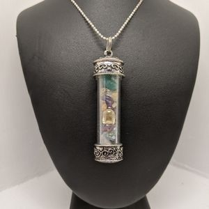 Vintage Bloodstone Vial with Authentic Gems
